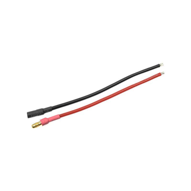 Konektor zlacený 3.5mm s kabelem kabel 14AWG 10cm (1 pár) - 1