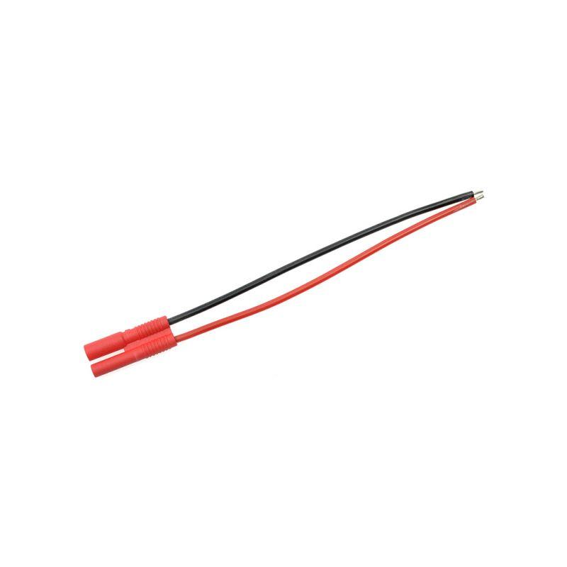 Konektor zlacený 2.0mm samec s kabelem 20AWG 10cm - 1