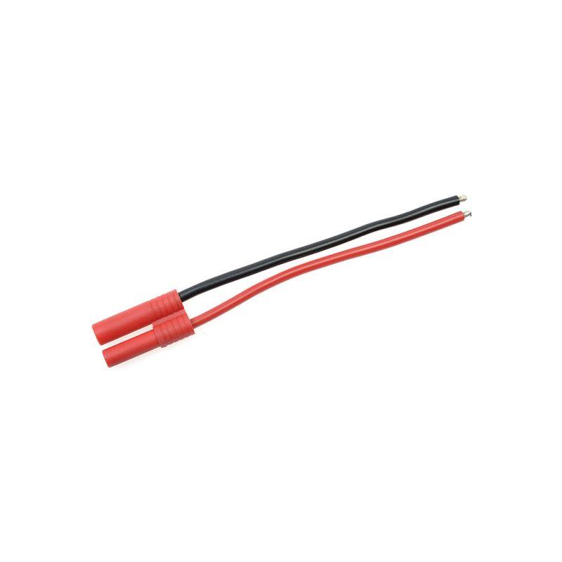 Konektor zlacený 4.0mm samec s kabelem 14AWG 10cm - 1