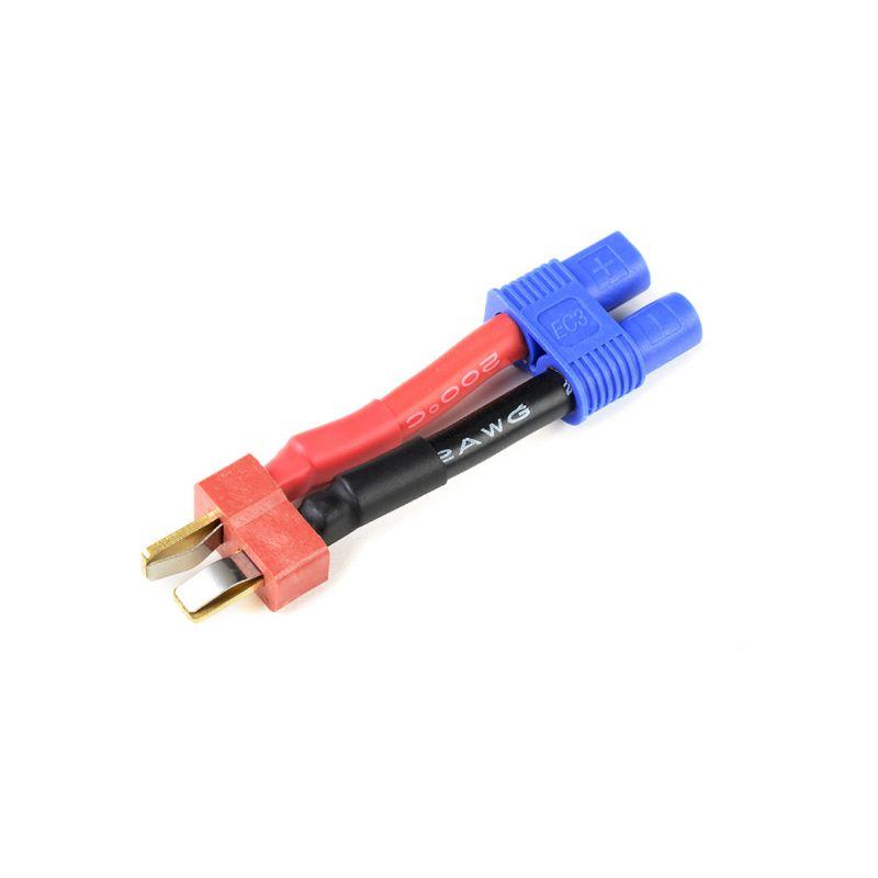 Konverzní kabel Deans samec - EC3 samec 12AWG - 1