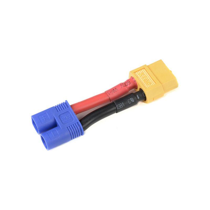 Konverzní kabel EC3 samice - XT-60 samec 12AWG - 1