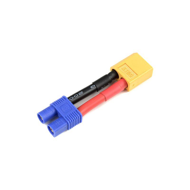 Konverzní kabel EC3 samec - XT-60 samice 12AWG - 1
