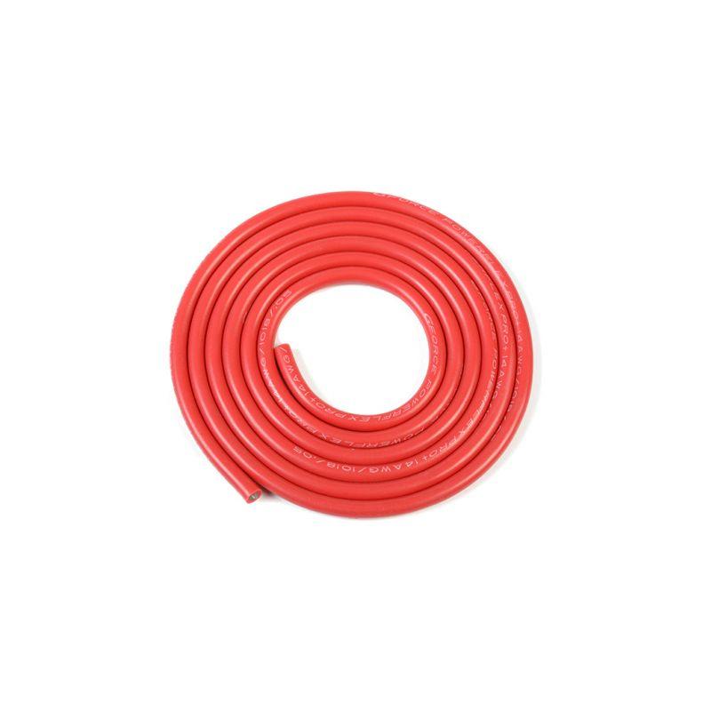 Kabel se silikonovou izolací Powerflex 14AWG červený (1m) - 1
