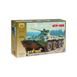 Zvezda ruské obrněné vozidlo BTR-80A (1:35) - 1