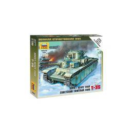 Zvezda Snap Kit - T-35 (1:100) - 1