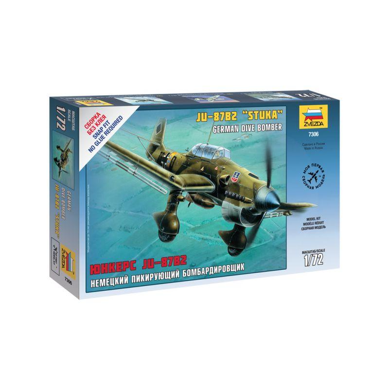 Zvezda Snap Kit - Junkers Ju-87B2 Stuka (1:72) - 1