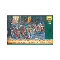 Zvezda figurky AoB - francouzská pěchota 100 letá válka (1:72) - 1