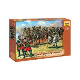 Zvezda figurky Dragoons of Peter the Great (1:72) - 1