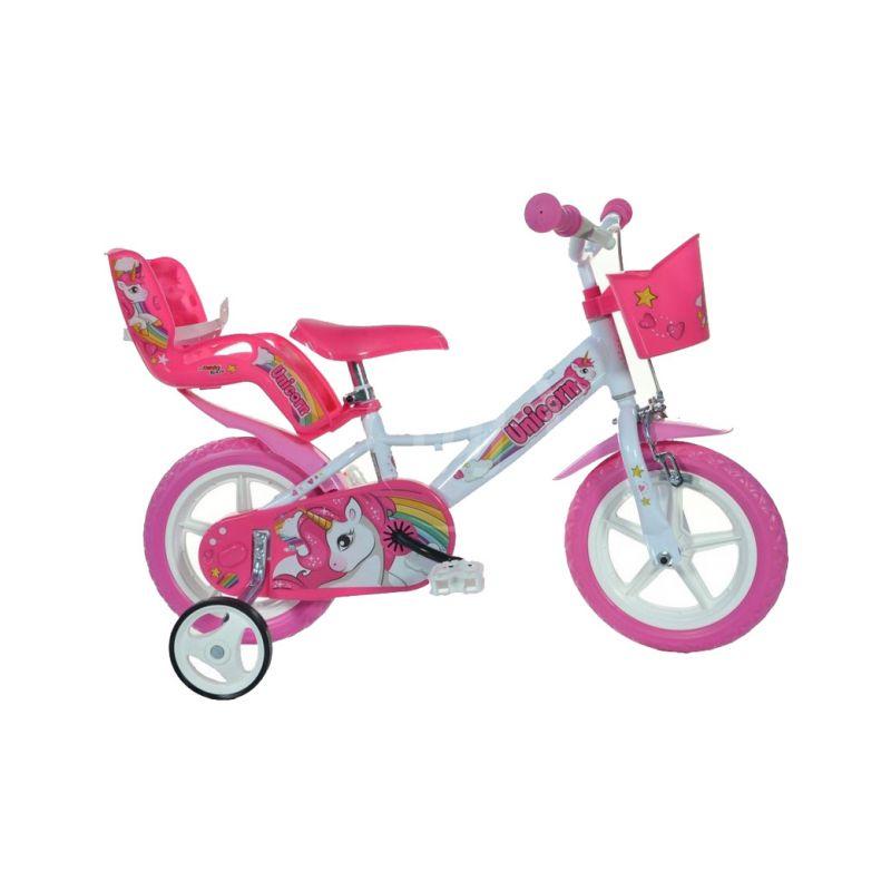 """DINO Bikes - Dětské kolo 12"""" Jednorožec se sedačkou - 1"""