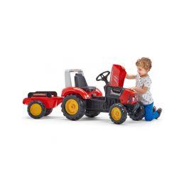 FALK - Šlapací traktor Supercharger červený - 4