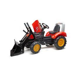 FALK - Šlapací traktor Supercharger s nakladačem a vlečkou červený - 4