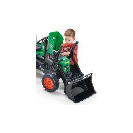 FALK - Šlapací traktor Supercharger s nakladačem a vlečkou zelený - 3