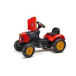 FALK - Šlapací traktor SuperCharger s vlečkou červený - 2