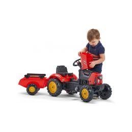 FALK - Šlapací traktor SuperCharger s vlečkou červený - 3