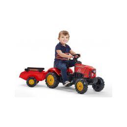 FALK - Šlapací traktor SuperCharger s vlečkou červený - 4