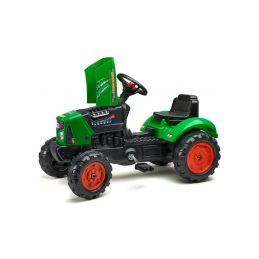 FALK - Šlapací traktor SuperCharger s vlečkou zelený - 2