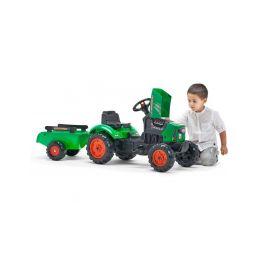 FALK - Šlapací traktor SuperCharger s vlečkou zelený - 3