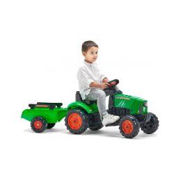 FALK - Šlapací traktor SuperCharger s vlečkou zelený - 4