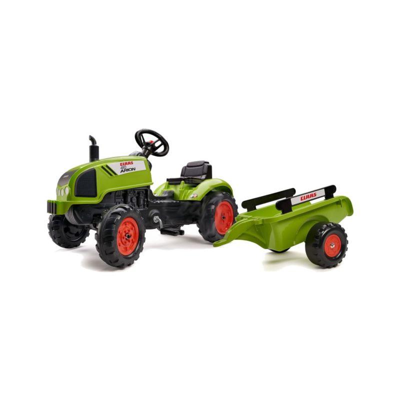 FALK - Šlapací traktor Claas Arion 410 s vlečkou - 1