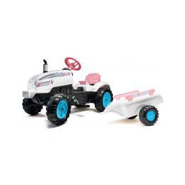 FALK - Šlapací traktor Butterfly Farmer s vlečkou - 1