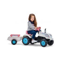 FALK - Šlapací traktor Butterfly Farmer s vlečkou - 3