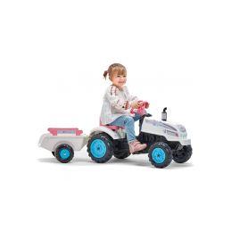 FALK - Šlapací traktor Butterfly Farmer s vlečkou - 4