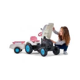 FALK - Šlapací traktor Butterfly Farmer s vlečkou - 5