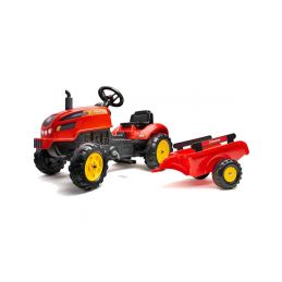 FALK - Šlapací traktor X-Tractor s vlečkou červený - 1