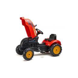 FALK - Šlapací traktor X-Tractor s vlečkou červený - 2