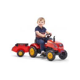 FALK - Šlapací traktor X-Tractor s vlečkou červený - 3