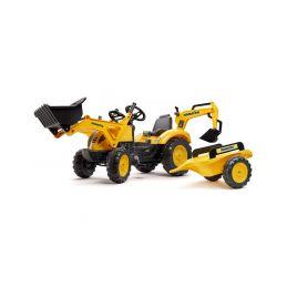 FALK - Šlapací traktor Komatsu s nakladačem, rypadlem a vlečkou - 1