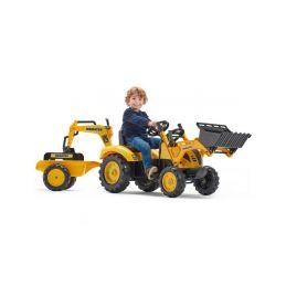 FALK - Šlapací traktor Komatsu s nakladačem, rypadlem a vlečkou - 2