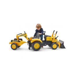 FALK - Šlapací traktor Komatsu s nakladačem, rypadlem a vlečkou - 3