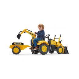 FALK - Šlapací traktor Komatsu s nakladačem, rypadlem a vlečkou - 4