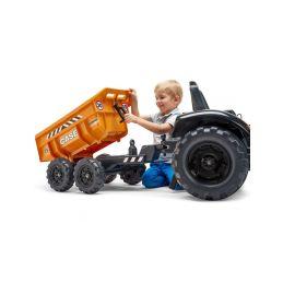 FALK - Šlapací traktor Case IH Beckhoe s nakladačem, rypadlem a vlečkou - 3