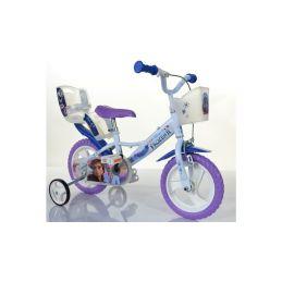 """DINO Bikes - Dětské kolo 12"""" Frozen 2 se sedačkou pro panenku a košíkem - 2"""