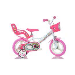 """DINO Bikes - Dětské kolo 12"""" Hello Kitty2 se sedačkou - 1"""