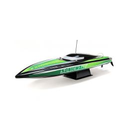 "Proboat Sonicwake 36"" Self-Right Deep-V BL RTR černý - 1"