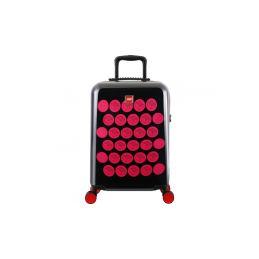 """LEGO Luggage Cestovní kufr Brick Dots 20"""" - černý/růžový - 1"""