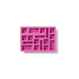 LEGO silikonová forma na led Iconic růžová - 1