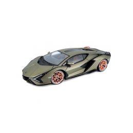 Bburago Lamborghini Sián FKP 37 1:18 zelená metalíza - 1