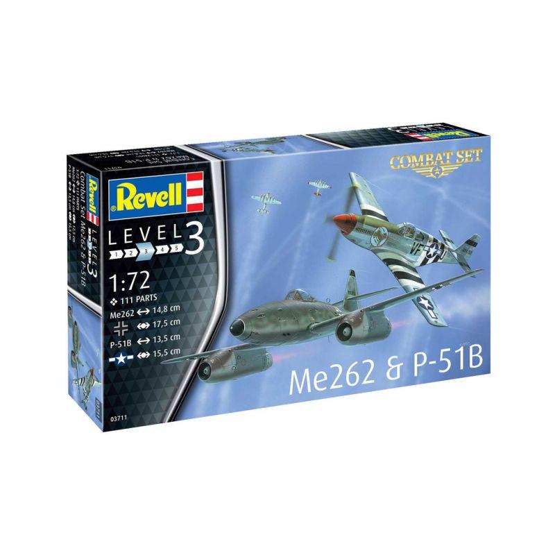 Revell Messerschmitt Me 262, P-51B Mustang(1:72) - 1