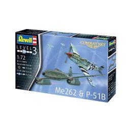 Revell Messerschmitt Me 262, P-51B Mustang(1:72) - 2