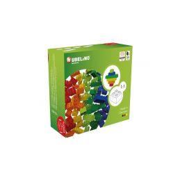HUBELINO Kuličková dráha - barevné kostky 60 dílků - 1