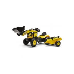 FALK - Šlapací traktor Komatsu Pedal backhoe s vlečkou a nakladačem - 1