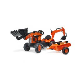 FALK - Šlapací traktor Kubota s nakladačem, rypadlem a vlečkou - 1