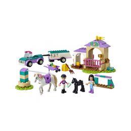 LEGO Friends - Auto s přívěsem a výcvik koníka - 1