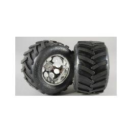 Monster Truck nalepené gumy, M směs, 14mm, 2ks. - 1