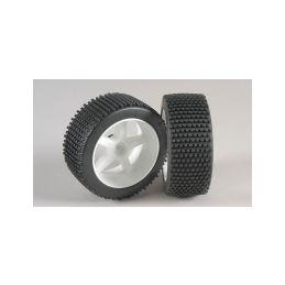 Mini-Pin, M směs, nalepené, bílé disky, 2ks. - 1