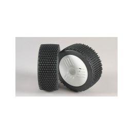 Mini - Pin M/OR-nalepené gumy na LEO bílých diskách, 2ks. - 1